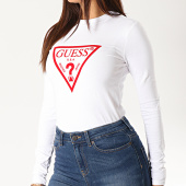 /achat-t-shirts-manches-longues/guess-tee-shirt-manches-longues-femme-w94i0b-j1300-blanc-rouge-189557.html
