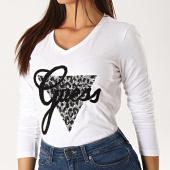 /achat-t-shirts/guess-tee-shirt-manches-longues-col-v-femme-w94i82-r5jk0-blanc-noir-189564.html