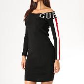 /achat-robes/guess-robe-pull-femme-col-bateau-avec-bandes-w94k1b-z1yg0-noir-blanc-rouge-189570.html