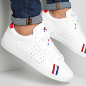 /achat-baskets-basses/le-coq-sportif-baskets-courtstar-sport-1920097-optical-white-pure-red-189652.html