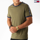 /achat-t-shirts/tommy-hilfiger-jeans-tee-shirt-a-bandes-0562-vert-kaki-189484.html
