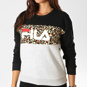 /achat-sweats-col-rond-crewneck/fila-sweat-crewneck-leah-687043-noir-gris-chine-leopard-189771.html