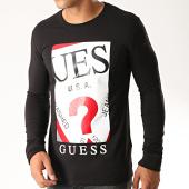 /achat-t-shirts-manches-longues/guess-tee-shirt-manches-longues-m94i50-j1300-noir-blanc-rouge-189845.html