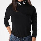 /achat-t-shirts-manches-longues/calvin-klein-tee-shirt-manches-longues-femme-col-roule-monogram-tape-2179-noir-190042.html