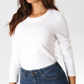 /achat-t-shirts-manches-longues/calvin-klein-jeans-tee-shirt-slim-femme-manches-longues-2586-blanc-190063.html