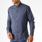 /achat-chemises-manches-longues/celio-chemise-manches-longues-napinpoint-bleu-marine-chine-189968.html
