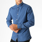 /achat-chemises-manches-longues/celio-chemise-manches-longues-pacitydob-bleu-189977.html