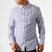 /achat-chemises-manches-longues/celio-chemise-manches-longues-parade-bleu-marine-blanc-189981.html