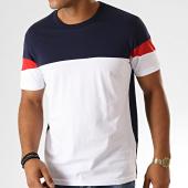 /achat-t-shirts/celio-tee-shirt-pebloque-blanc-bleu-marine-rouge-189986.html
