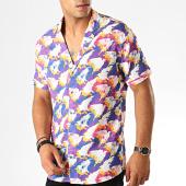 /achat-chemises-manches-courtes/classic-series-chemise-manches-courtes-1457-blanc-violet-rose-jaune-bleu-190058.html