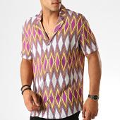 /achat-chemises-manches-courtes/classic-series-chemise-manches-courtes-1457-violet-jaune-gris-190064.html