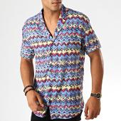 /achat-chemises-manches-courtes/classic-series-chemise-manches-courtes-1457-bleu-jaune-rose-190065.html