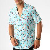 /achat-chemises-manches-courtes/classic-series-chemise-manches-courtes-1457-bleu-clair-orange-blanc-190074.html