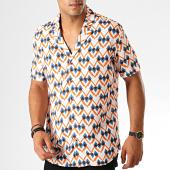 /achat-chemises-manches-courtes/classic-series-chemise-manches-courtes-1457-blanc-orange-bleu-190075.html