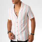 /achat-chemises-manches-courtes/classic-series-chemise-manches-courtes-a-rayures-1457-blanc-orange-vert-190076.html