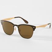 /achat-lunettes-de-soleil/ray-ban-lunettes-de-soleil-blaze-clubmaster-3576n-dore-noir-189947.html