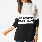 /achat-sweats-col-rond-crewneck/superdry-sweat-crewneck-femme-sport-pusher-gs3119tu-reflective-gris-chine-blanc-noir-189888.html
