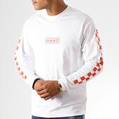 /achat-t-shirts-manches-longues/vans-tee-shirt-manches-longues-a-bandes-easy-box-checker-a45cy3pv-blanc-189924.html