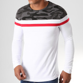 /achat-t-shirts-manches-longues/lbo-tee-shirt-manches-longues-tricolore-822-camouflage-gris-rouge-blanc-190093.html