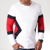 /achat-sweats-col-rond-crewneck/lbo-sweat-crewneck-tricolore-816-rouge-bleu-marine-blanc-190095.html