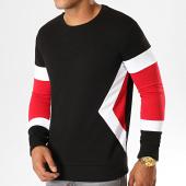 /achat-sweats-col-rond-crewneck/lbo-sweat-crewneck-tricolore-817-rouge-blanc-noir-190096.html