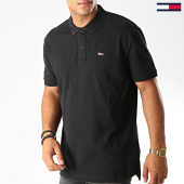 /achat-polos-manches-courtes/tommy-hilfiger-jeans-polo-manches-courtes-classics-solid-stretch-7196-noir-190167.html