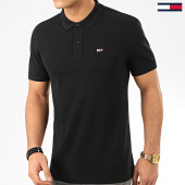 /achat-polos-manches-courtes/tommy-jeans-polo-manches-courtes-classics-solid-stretch-7196-noir-190167.html