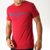 /achat-t-shirts/pepe-jeans-tee-shirt-original-stretch-rouge-190280.html