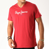 /achat-t-shirts/pepe-jeans-tee-shirt-col-v-eggo-v-rouge-190287.html