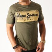 /achat-t-shirts/pepe-jeans-tee-shirt-slim-charing-vert-kaki-190290.html