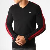 /achat-pulls/antony-morato-pull-col-v-stripes-mania-mmsw00956-noir-rouge-190462.html