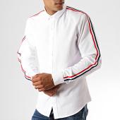 /achat-chemises-manches-longues/brave-soul-chemise-manches-longues-azure-blanc-190334.html