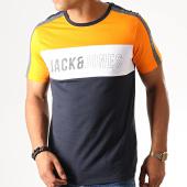 /achat-t-shirts/jack-and-jones-tee-shirt-slim-a-bandes-temp-bleu-marine-orange-190447.html