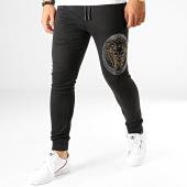 /achat-pantalons-joggings/john-h-pantalon-jogging-a-strass-2262-2263-noir-dore-argente-190348.html