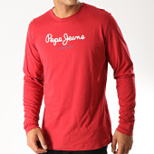 /achat-t-shirts-manches-longues/pepe-jeans-tee-shirt-manches-longues-eggo-long-rouge-190329.html