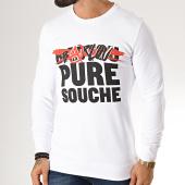 /achat-sweats-col-rond-crewneck/seth-gueko-sweat-crewneck-barlou-pure-souche-blanc-190350.html