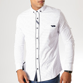 /achat-chemises-manches-longues/black-needle-chemise-manches-longues-y-3409-blanc-190543.html