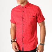 /achat-chemises-manches-courtes/black-needle-chemise-manches-courtes-y-3397-rouge-190554.html