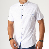 /achat-chemises-manches-courtes/black-needle-chemise-manches-courtes-y-3397-blanc-190555.html