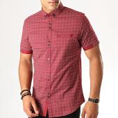 /achat-chemises-manches-courtes/black-needle-chemise-manches-courtes-y-3407-bordeaux-190560.html