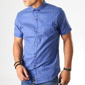 /achat-chemises-manches-courtes/black-needle-chemise-manches-courtes-y-3407-bleu-roi-190561.html
