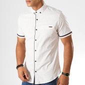 /achat-chemises-manches-courtes/black-needle-chemise-manches-courtes-y-3396-blanc-190569.html