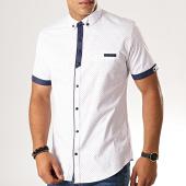 /achat-chemises-manches-courtes/black-needle-chemise-manches-courtes-y-3403-blanc-190575.html