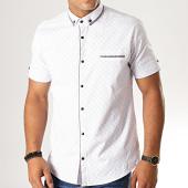 /achat-chemises-manches-courtes/black-needle-chemise-manches-courtes-y-3395-blanc-190577.html