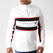 /achat-sweats-col-rond-crewneck/sofiane-sweat-col-zippe-affranchis-music-blanc-190664.html