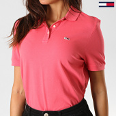 /achat-polos-manches-courtes/tommy-jeans-polo-manches-courtes-femme-classics-gmd-6884-rose-190591.html