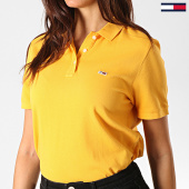 /achat-polos-manches-courtes/tommy-hilfiger-jeans-polo-manches-courtes-femme-classics-gmd-6884-jaune-190592.html