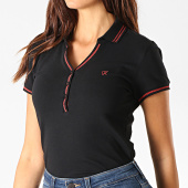 /achat-polos-manches-courtes/kaporal-polo-manches-courtes-femme-xamh-noir-rouge-190820.html