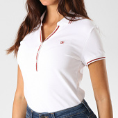 /achat-polos-manches-courtes/kaporal-polo-manches-courtes-femme-xamh-blanc-rouge-190822.html