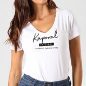/achat-t-shirts/kaporal-tee-shirt-col-v-femme-xavrah-blanc-190825.html